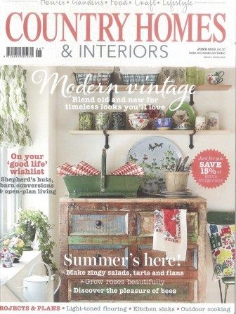 Country homes and interiors magazine cover