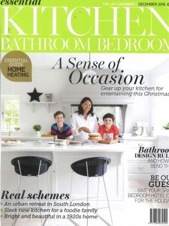 Essential Kitchen Bathroom Bedroom December 2016 magazine cover