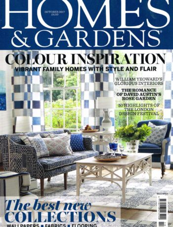 Homes and Gardens October 2017 magazine cover