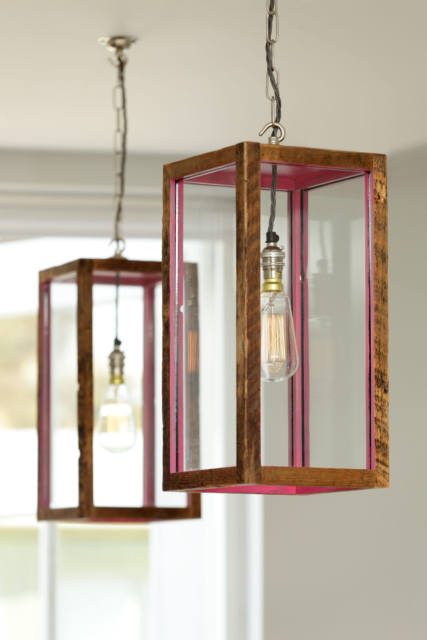 hanging contemporary box lights