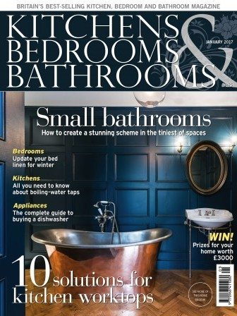 Kitchens Bedrooms and Bathrooms January 2017 magazine cover