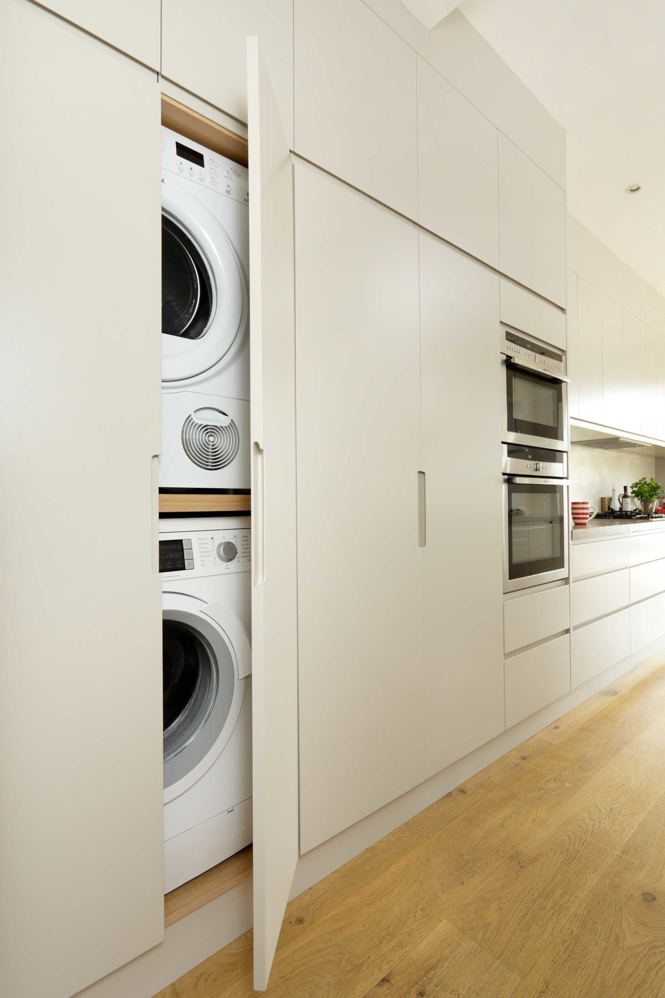 fitted units hide washer and dryer
