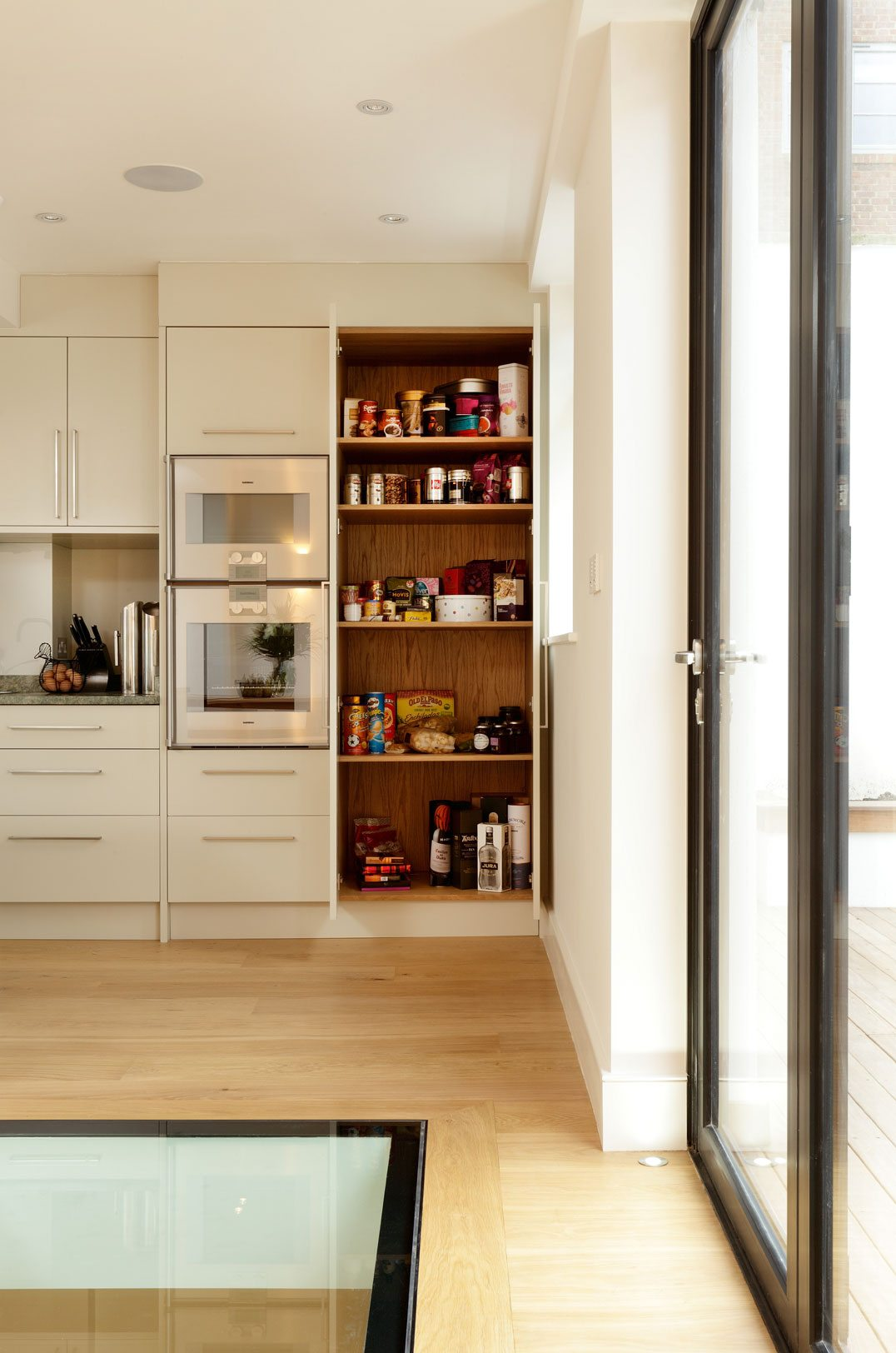 bespoke modern kitchen design shelving