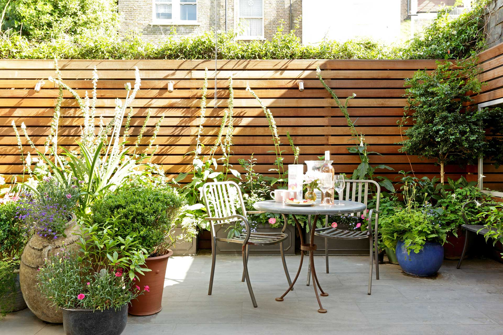 small walled garden modern design ideas