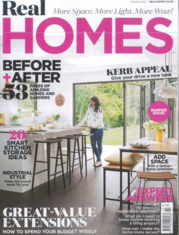 Real Homes October 2017 magazine cover