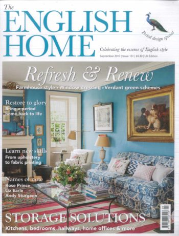The English Home September 2017 magazine cover