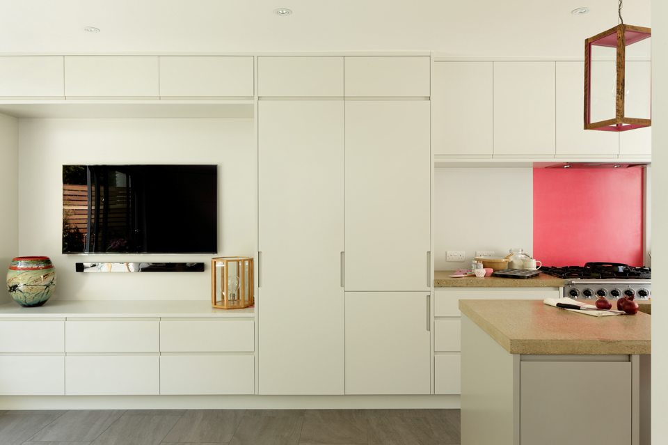 open plan living bespoke fitted units