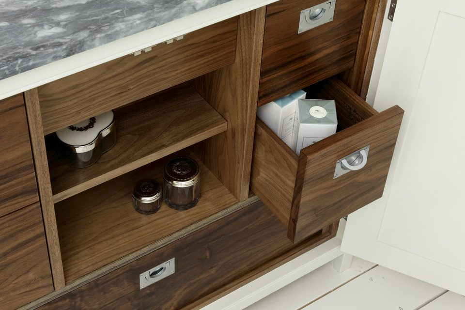 contemporary storage design open drawers