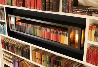book shelf lighting