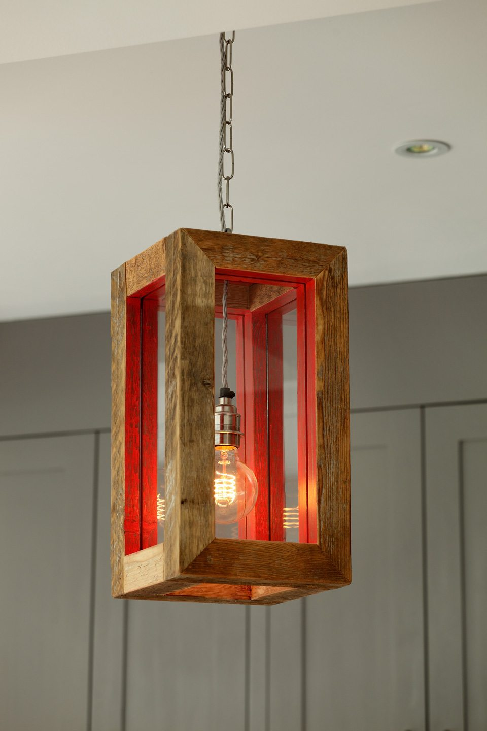 modern box hanging lighting